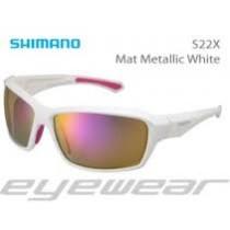Ochelari Shimano S22X Mat metallic white/pink