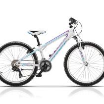 Bicicleta Cross Speedster 24″ Fete Alb/Albastru/Mov – 2018