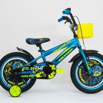 Bicicleta Ultra KIDY 16″ albastru/galben/negru