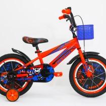 Bicicleta Ultra KIDY 16″ portocaliu/albastru/negru