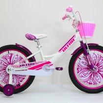 Bicicleta Ultra LARISA 20″ alb/roz/mov